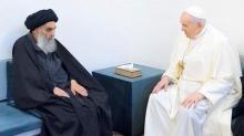 Necef'te buluşma! Papa'dan Şii lidere ziyaret