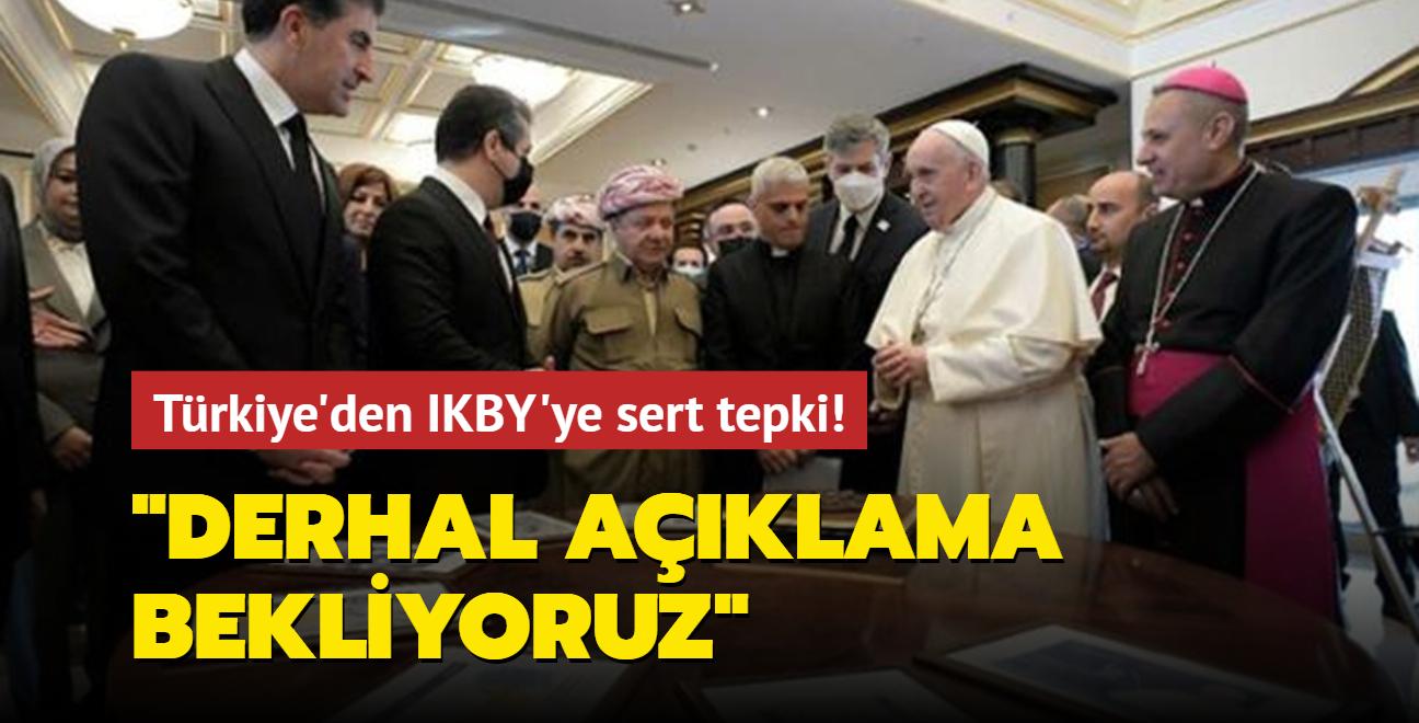 Dışişleri Bakanlığı'ndan IKBY'ye tepki: Papa için bastırılan paralarla ilgili açıklama bekliyoruz
