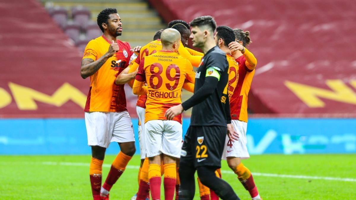 Kayserispor sahasında Galatasaray'ı sadece 1 kez yenebildi