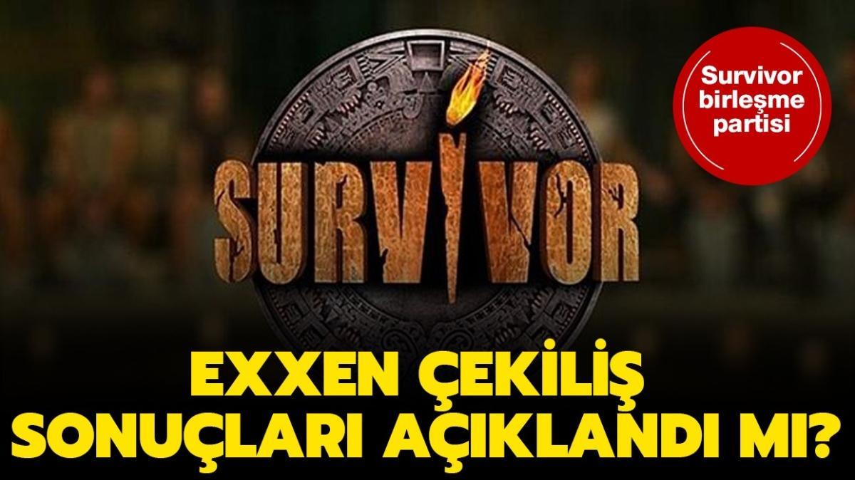 Exxen Survivor çekiliş sonuçları 2021 açıklandı! Exxen Survivor Birleşme  Partisi çekiliş sonuçları tam liste ve yedek isim listesi