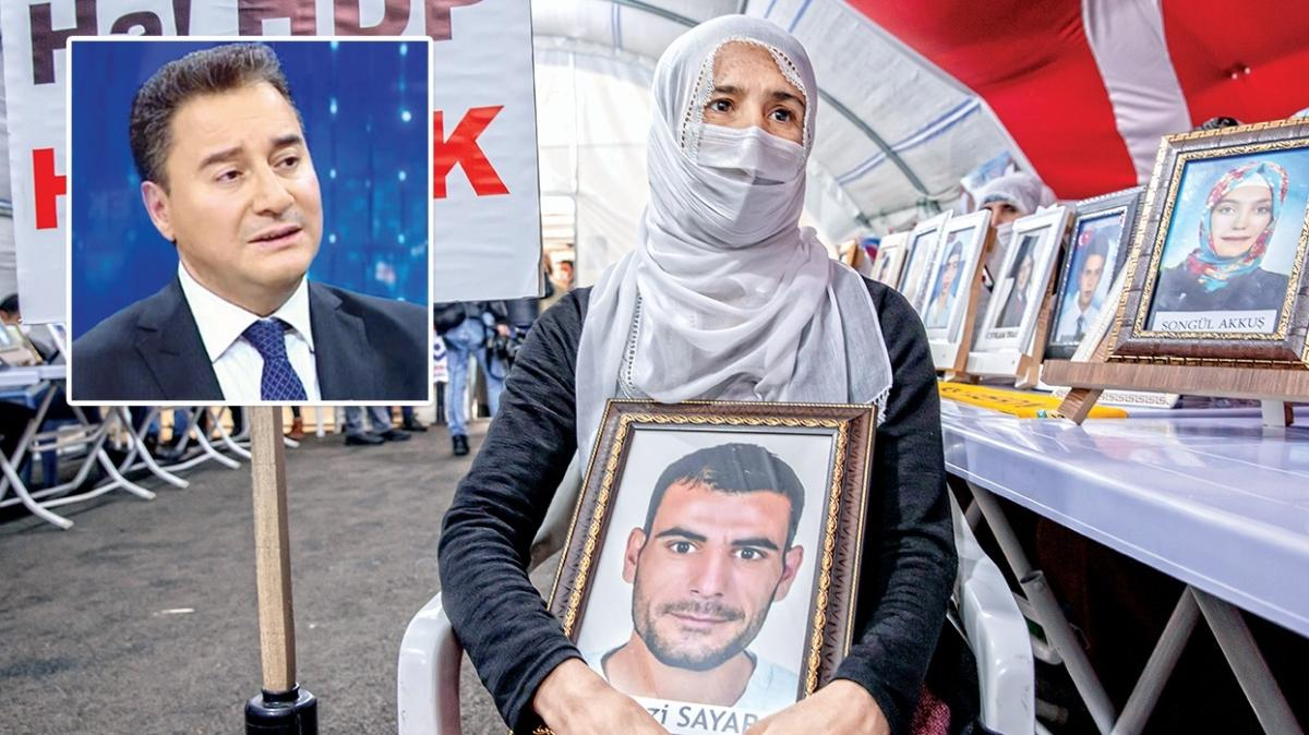 """Evlat nöbetinde Ali Babacan'a tepki: Annelere neden uğramadın"""""""