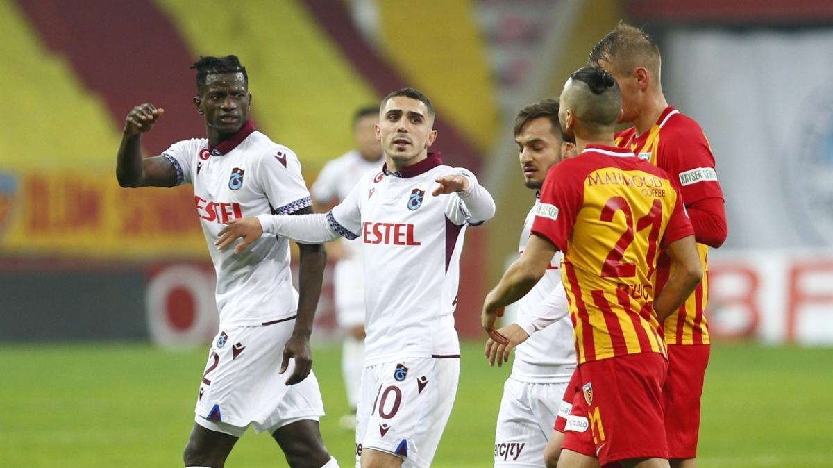 Trabzonspor sahasında Kayserispor'a karşı 23 maçta sadece 1 yenilgi aldı