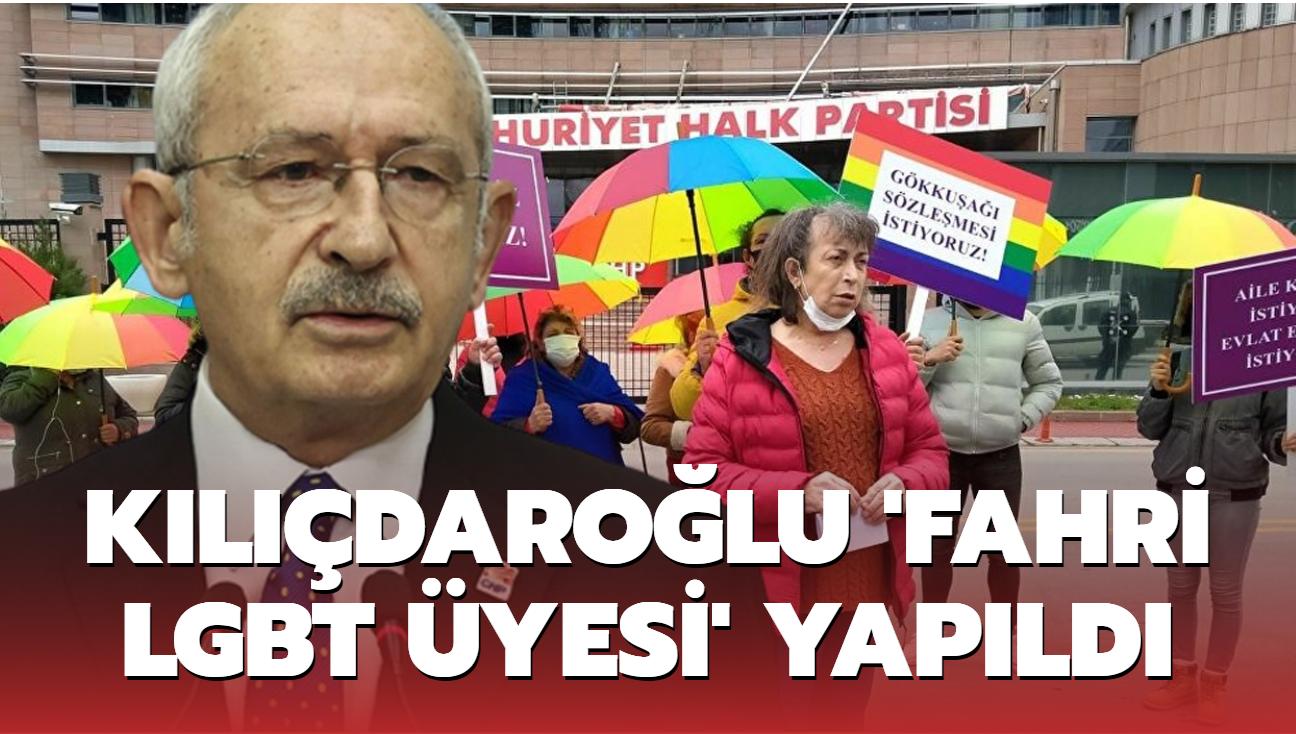 Kemal Kılıçdaroğlu 'fahri LGBT üyesi' yapıldı