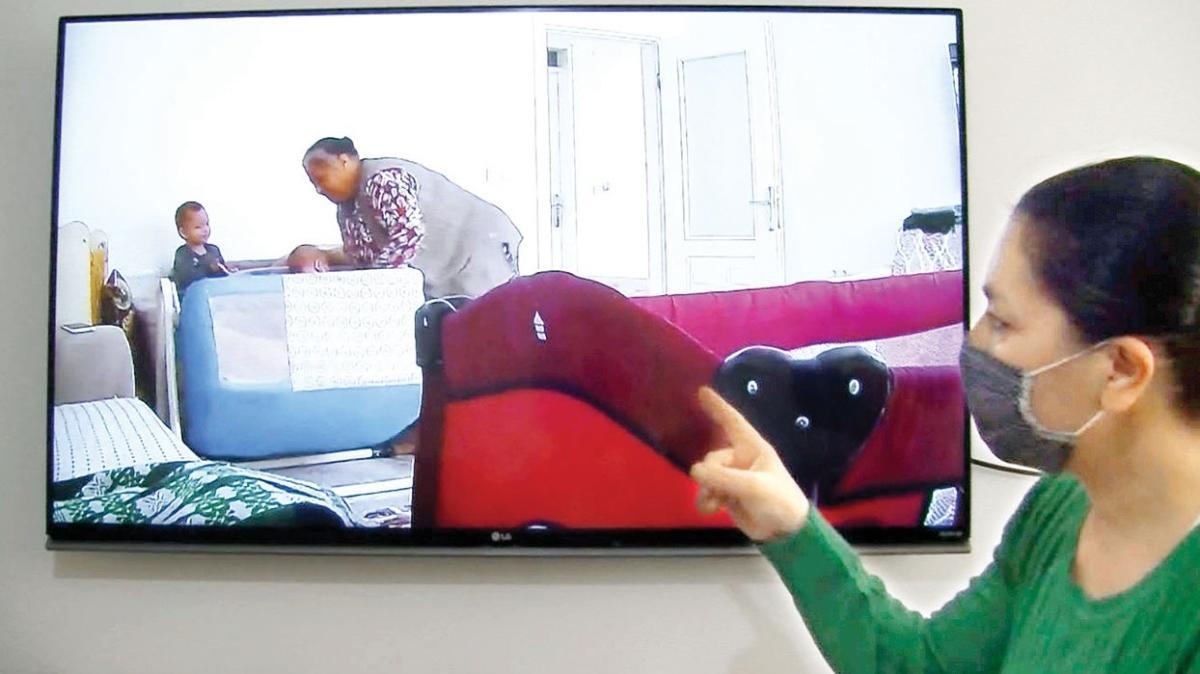 Bakıcı şiddeti bebek kamerasında