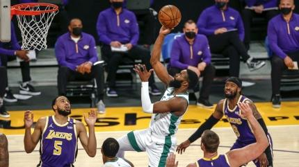 Boston Celtics, Jaylen Brown'un 40 sayı attığı maçta Los Angeles Lakers'ı devirdi