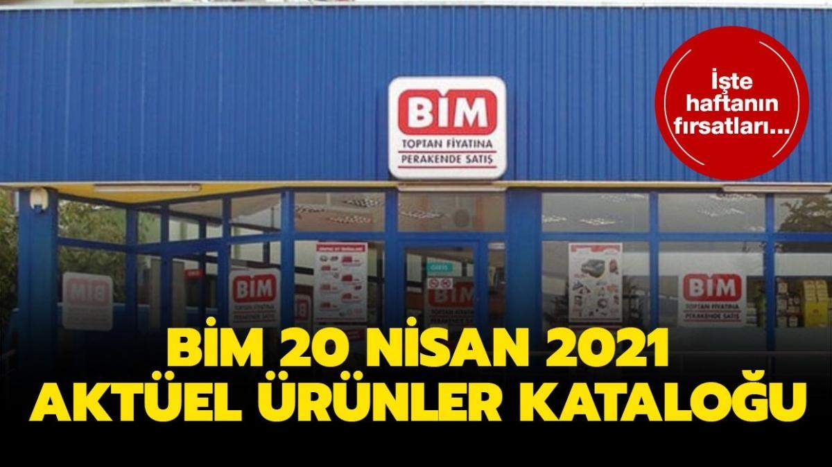 """BİM'de bu salı neler var"""" BİM 20 Nisan 2021 aktüel ürünler kataloğu!"""