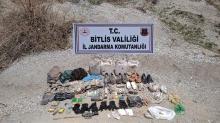 Bitlis'te operasyon: Patlamaya hazır 500 gram TNT kalıbı ile çeşitli malzemeler ele geçirildi