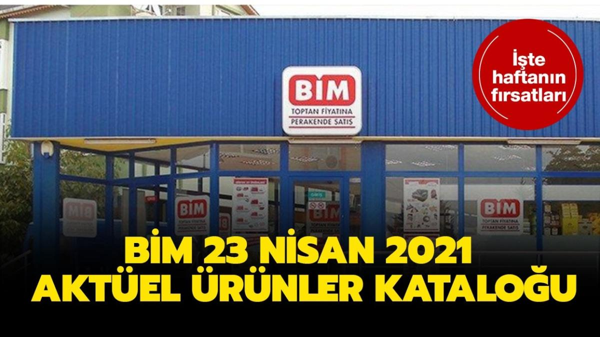 """BİM markete bugün neler gelecek"""" BİM 23 Nisan 2021 aktüel ürünler kataloğu yayında!"""