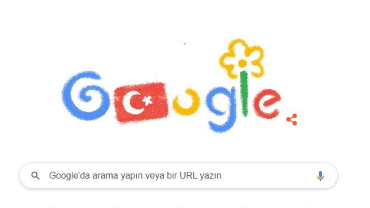 Google'dan 23 Nisan Ulusal Egemenlik Bayramı için özel doodle