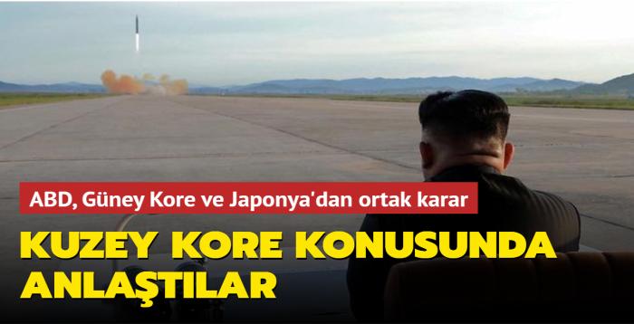 ABD, Güney Kore ve Japonya'dan ortak karar: Kuzey Kore nükleerden arındırılacak
