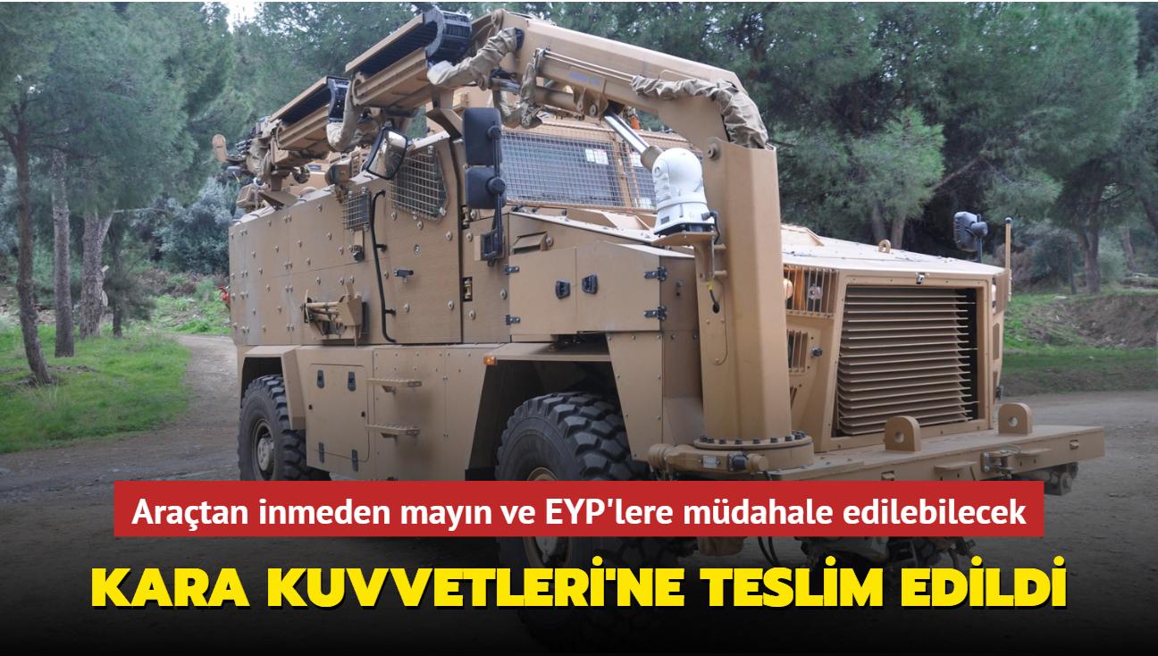 Araçtan inmeden mayın ve EYP'lere müdahale edebilecek... Kara Kuvvetleri'ne teslim edildi