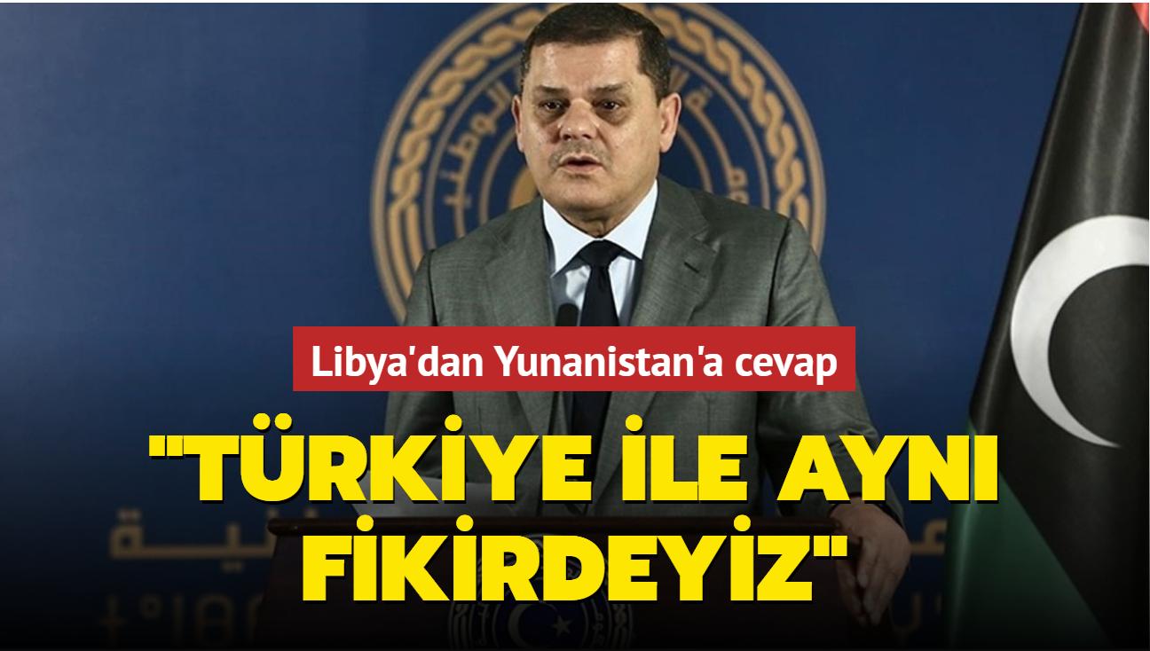 """Libya'dan Yunanistan'a cevap: """"Türkiye ile aynı fikirdeyiz"""""""
