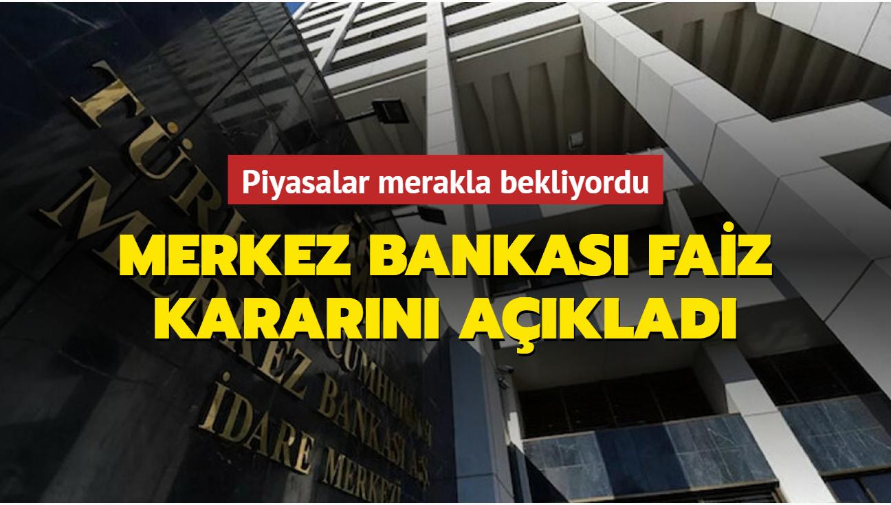 Merkez Bankası faiz oranını yüzde 19'da sabit bıraktı