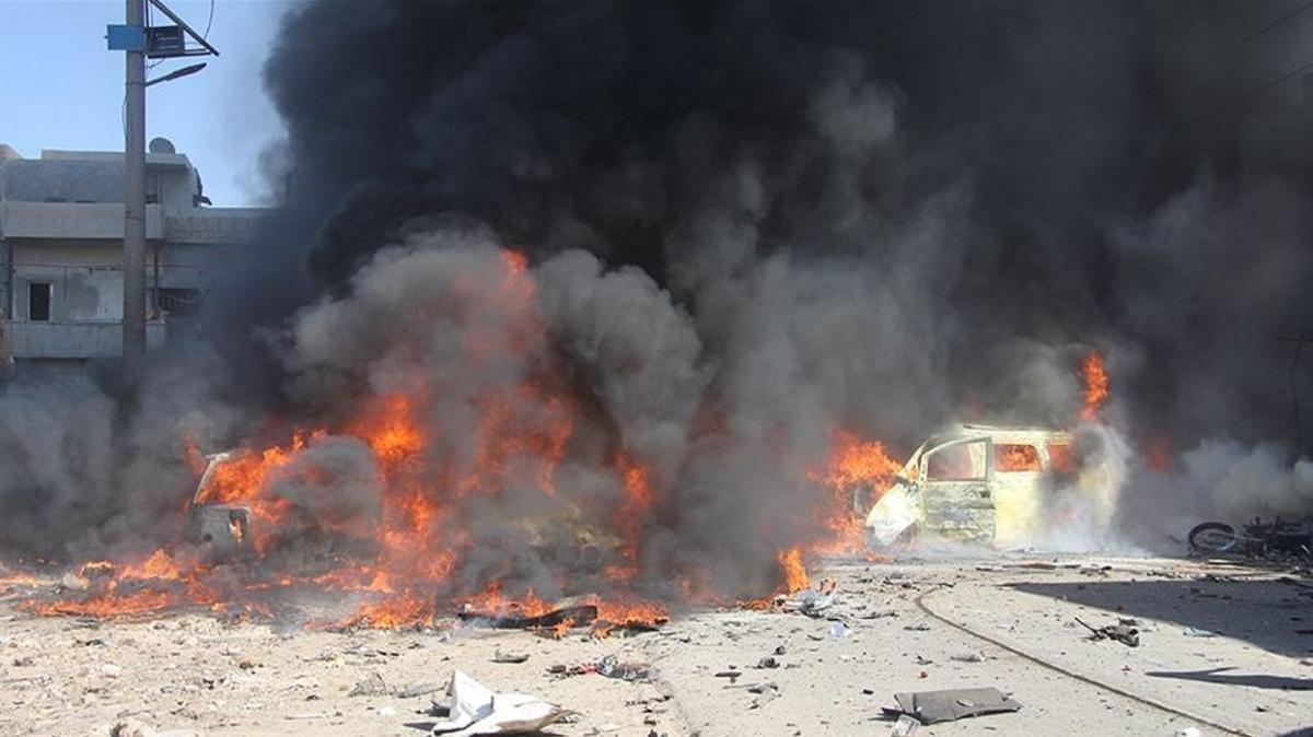 Azez'de iftar öncesi bomba yüklü araçla terör saldırısı