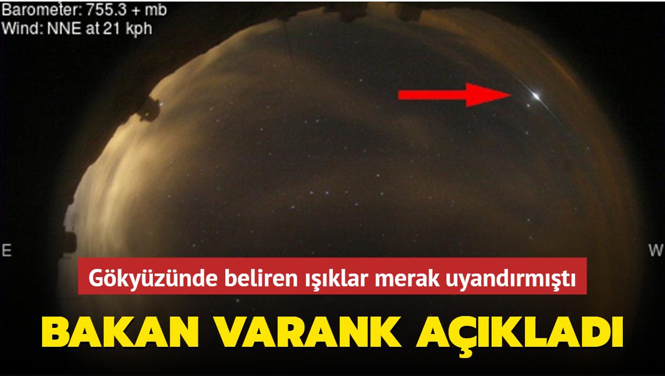 Gökyüzünde belirmişti... Bakan Varank açıkladı