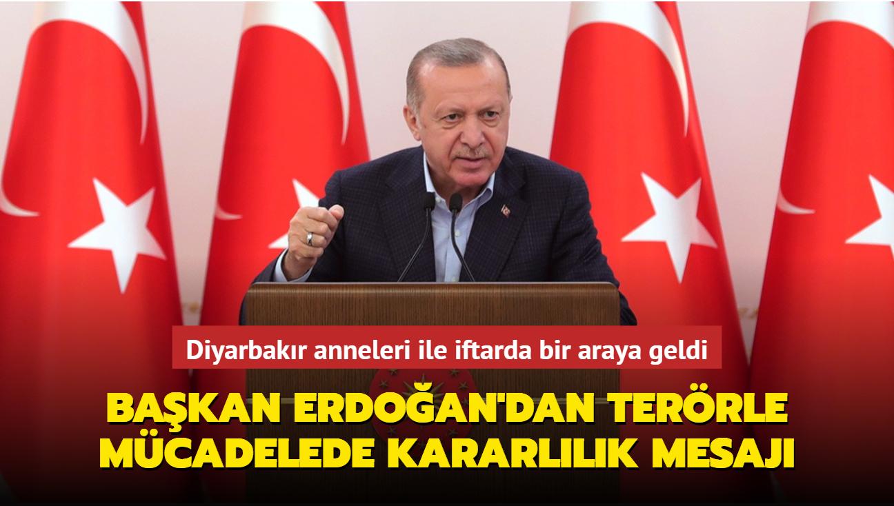 Başkan Erdoğan'dan Diyarbakır anneleri ile yaptığı iftar sonrası önemli açıklamalar