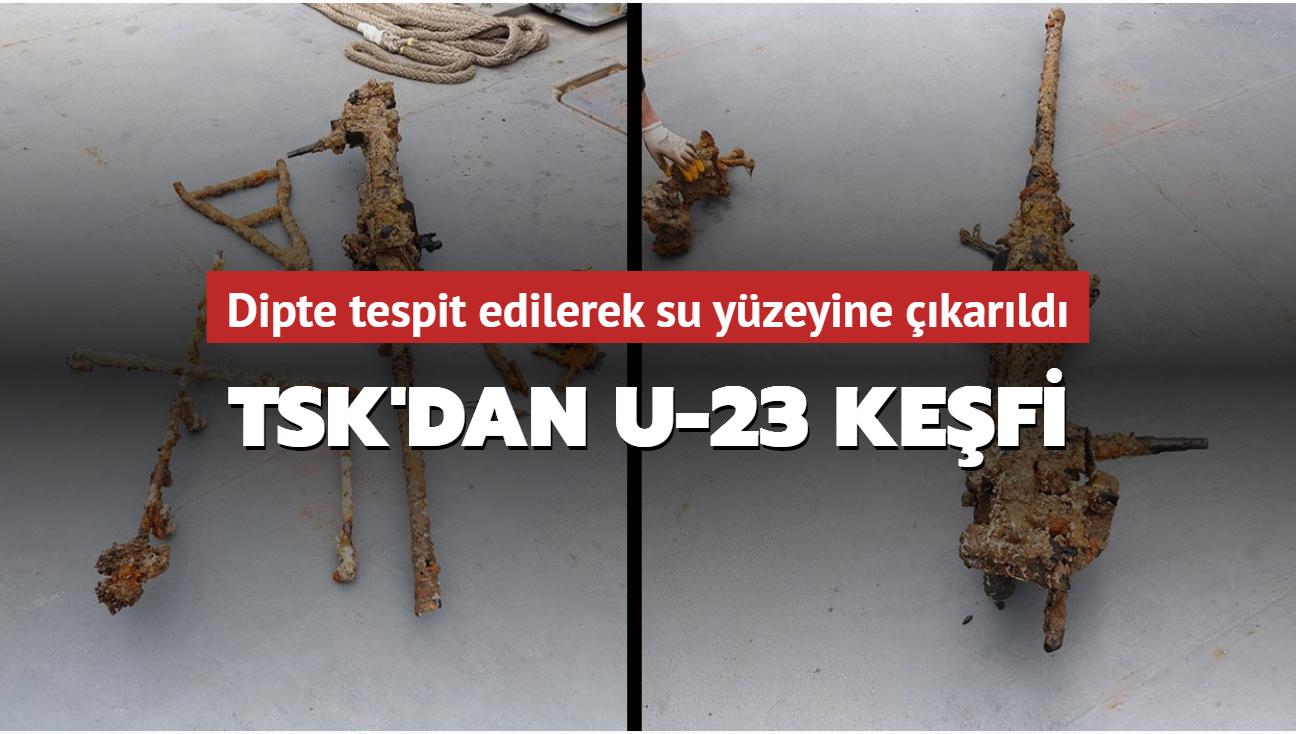 TSK'nın keşfettiği U-23'e ait top İstanbul Deniz Müzesi'ne teslim edildi