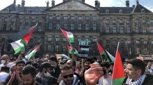 Hollanda'dan Filistinlilere destek... Mescid-i Aksa saldırıları protesto edildi