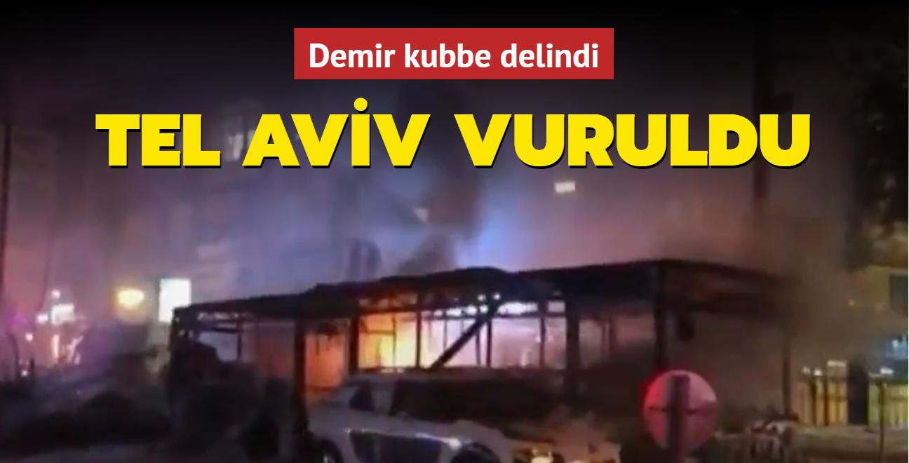 Demir kubbe delindi... Tel Aviv vuruldu