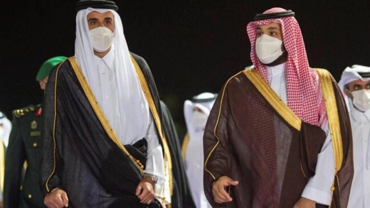 Katar Emiri Temim, Suudi Arabistan'ı ziyaret etti
