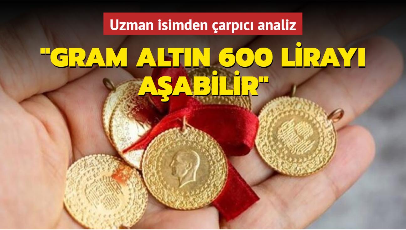 Gram altın 600 lirayı aşabilir! Uzman isimden çarpıcı altın fiyatları analizi!