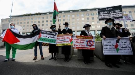 ABD'nin başkentinde Filistin'e destek yürüyüşü