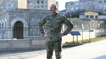 Aliyev, Şuşa'daki caminin temelini attı