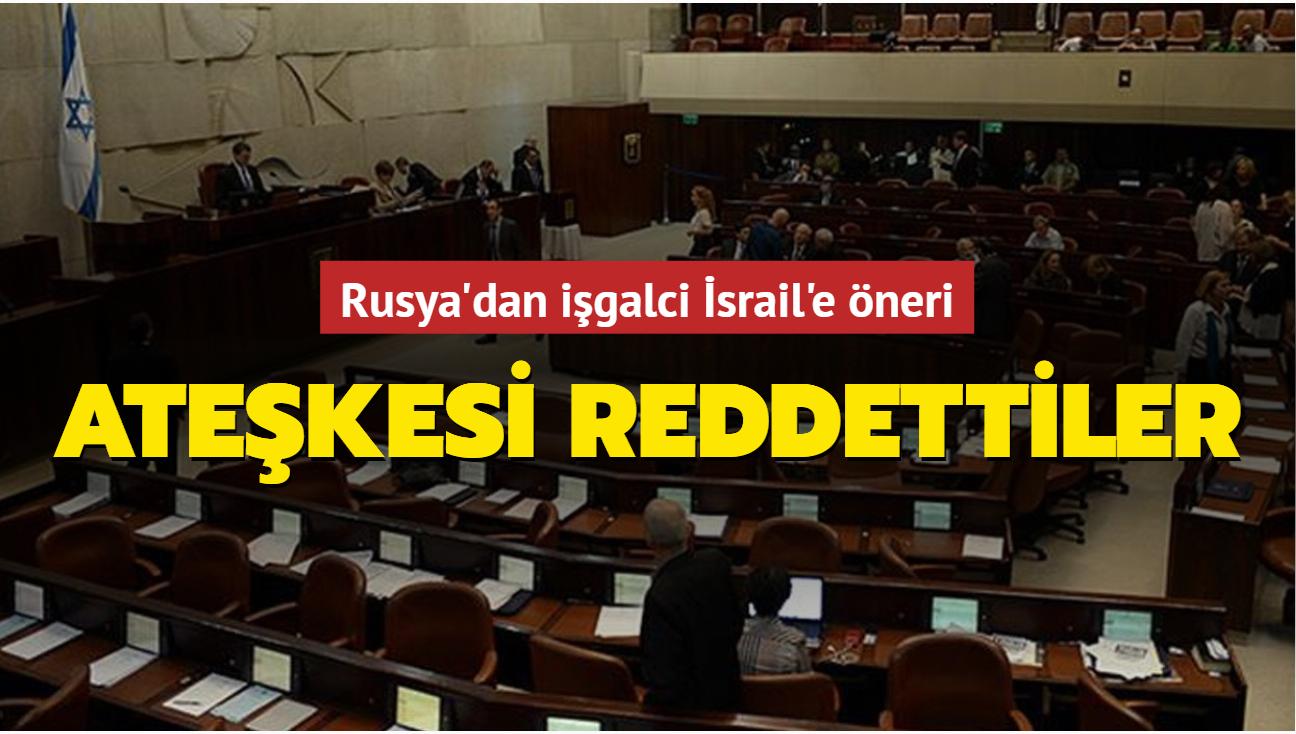 Rusya'dan işgalci İsrail'e öneri... Ateşkesi reddettiler