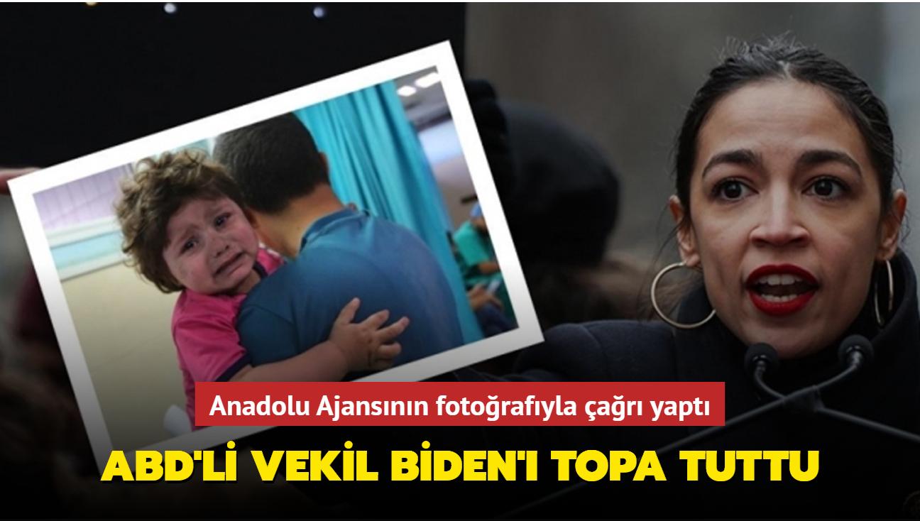 ABD'li vekil Biden'ı topa tuttu: Anadolu Ajansının fotoğrafıyla çağrı yaptı