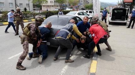 Trabzon'da nefes kesen tatbikat
