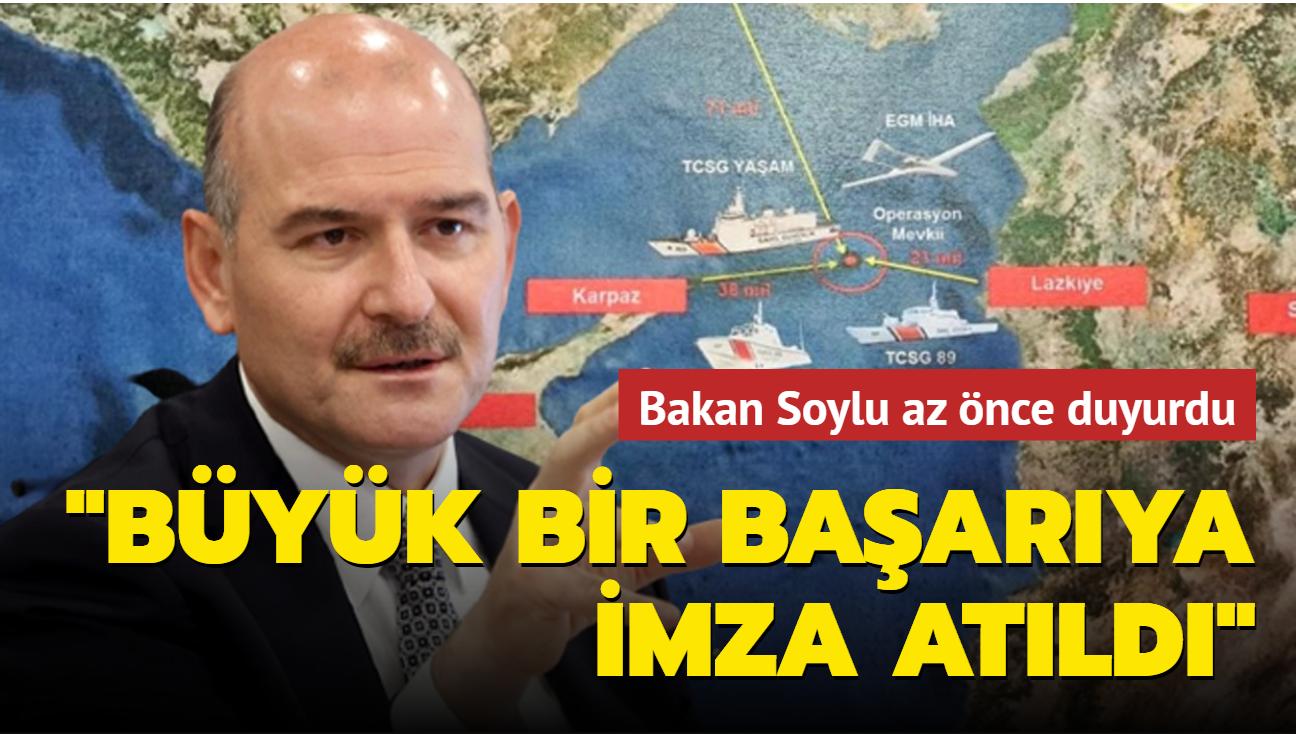 Bakan Soylu: Suriye açıklarında, müdahale edilen gemide, 1.5 tonun üzerinde esrar ele geçirildi