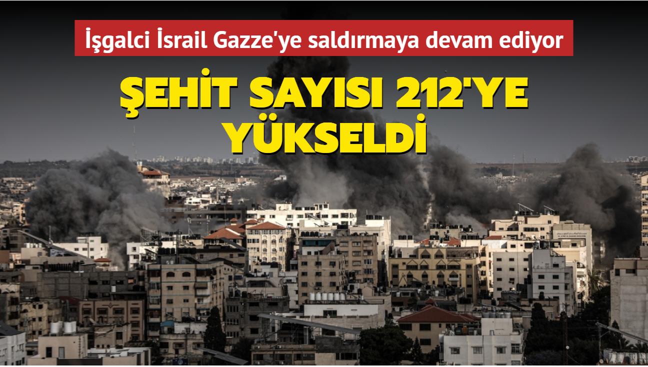 İşgalci İsrail Gazze'ye saldırmaya devam ediyor... Şehit sayısı 212'ye yükseldi