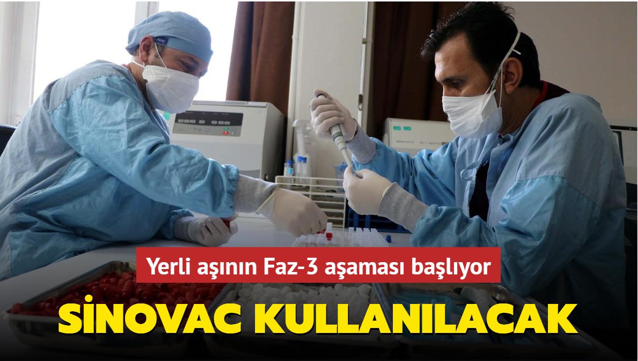 Yerli aşının son aşamasında 'Sinovac' kullanılacak