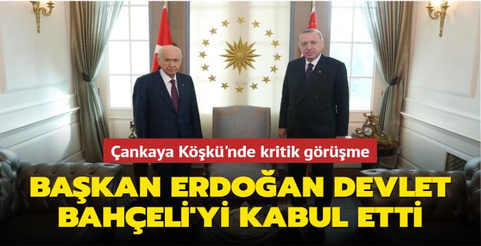 Çankaya Köşkü'nde kritik görüşme... Başkan Erdoğan Devlet Bahçeli'yi kabul etti