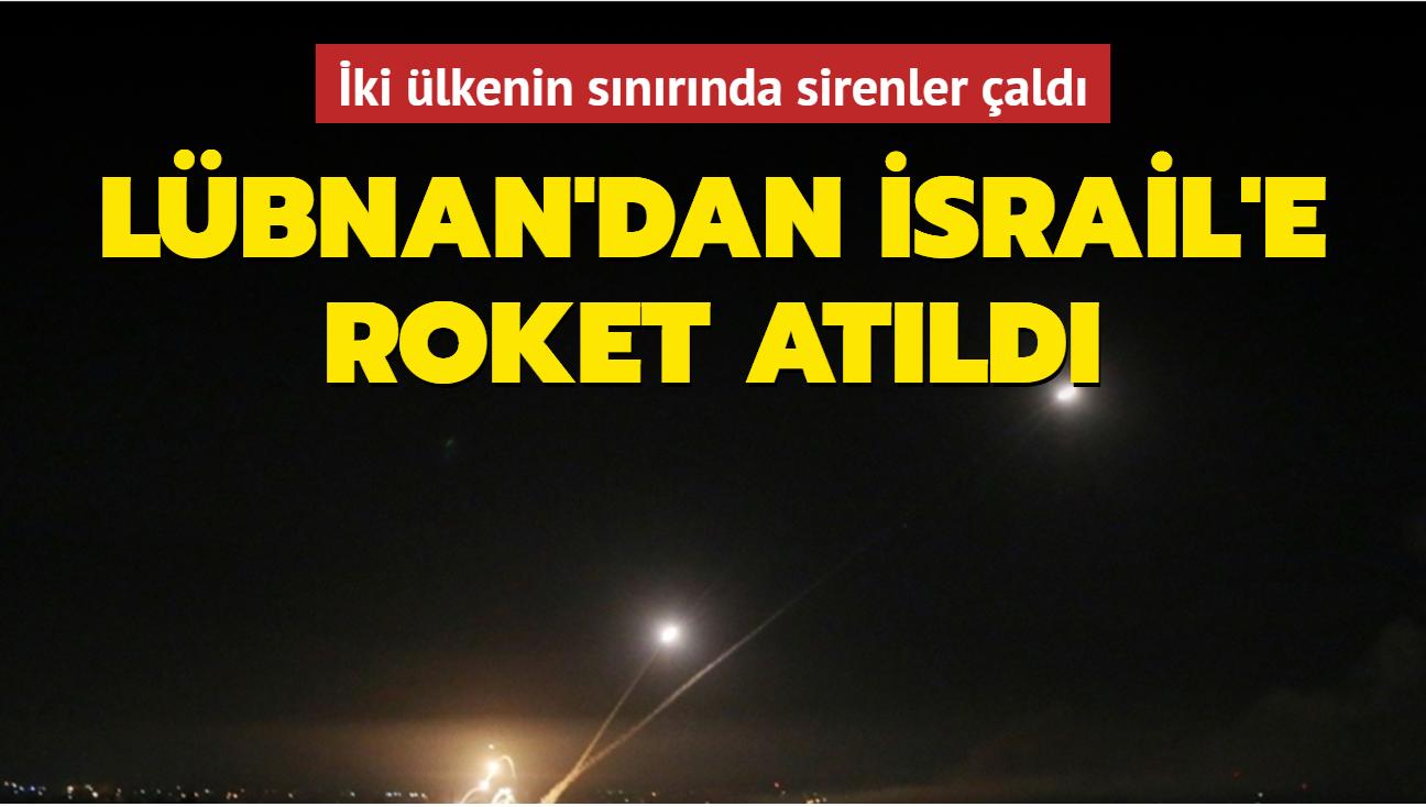 Lübnan'dan İsrail tarafına roket atıldı