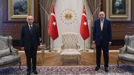Başkan Erdoğan ile Bahçeli görüşmesi başladı