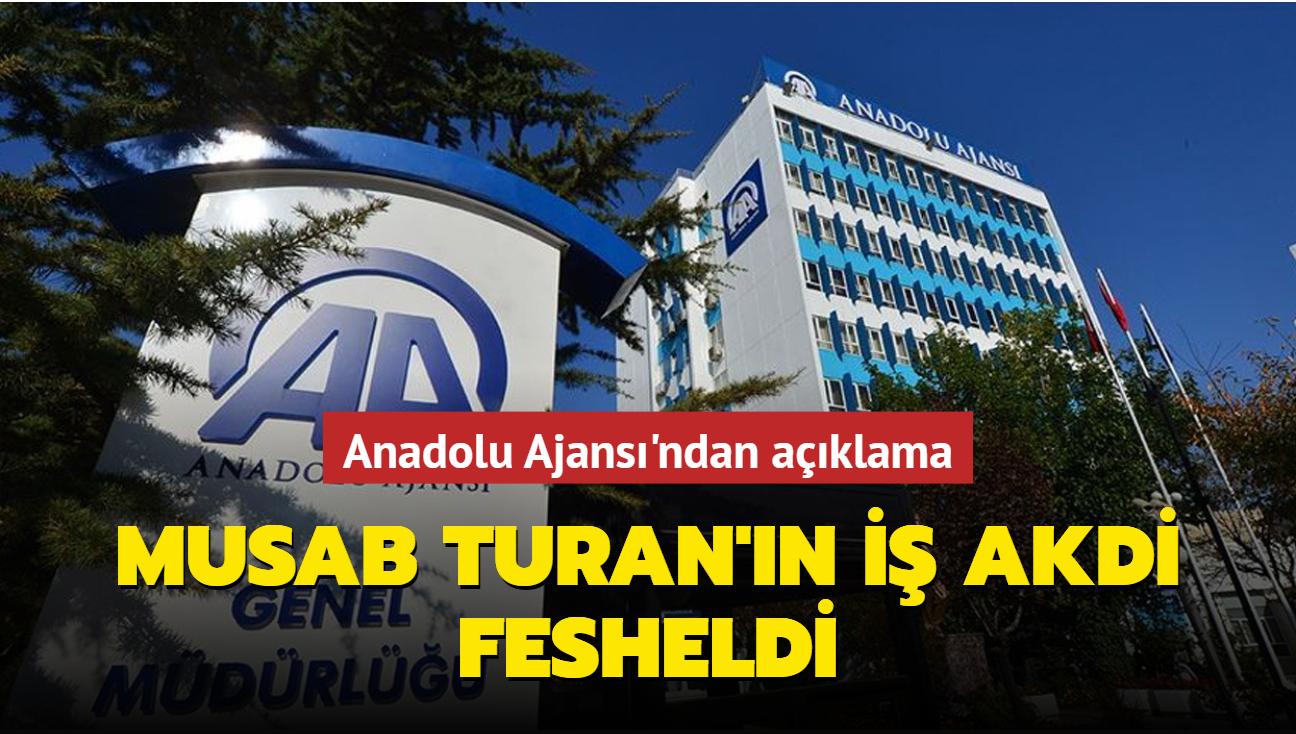 AA: Musab Turan'ın görevine son verildi