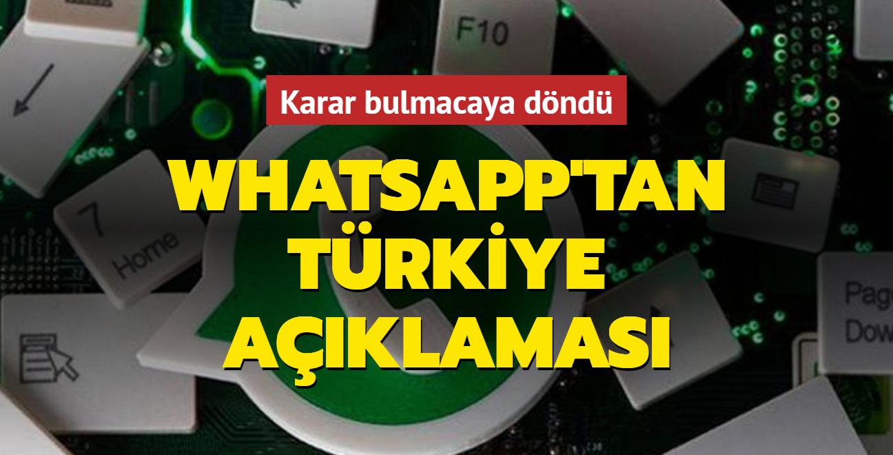 Son dakika haberi: Whatsapp'ın Türkiye kararı bulmacaya döndü: Görüşmeye devam ediyoruz