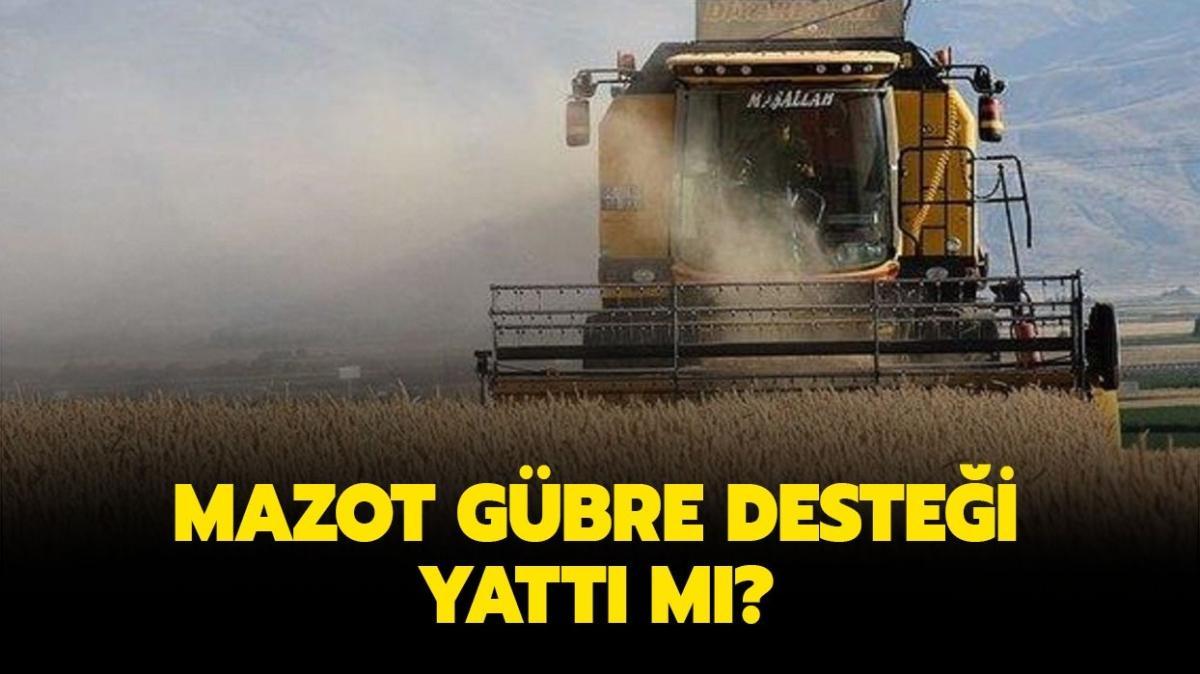 """Mazot Gübre Desteği sorgulama ekranı 2021: Mazot Gübre Desteği yattı mı"""""""