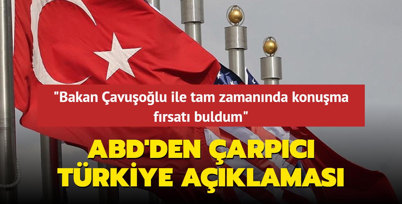 ABD'den Türkiye açıklaması: İş birliğinin sürdürülmesi büyük önem taşıyor