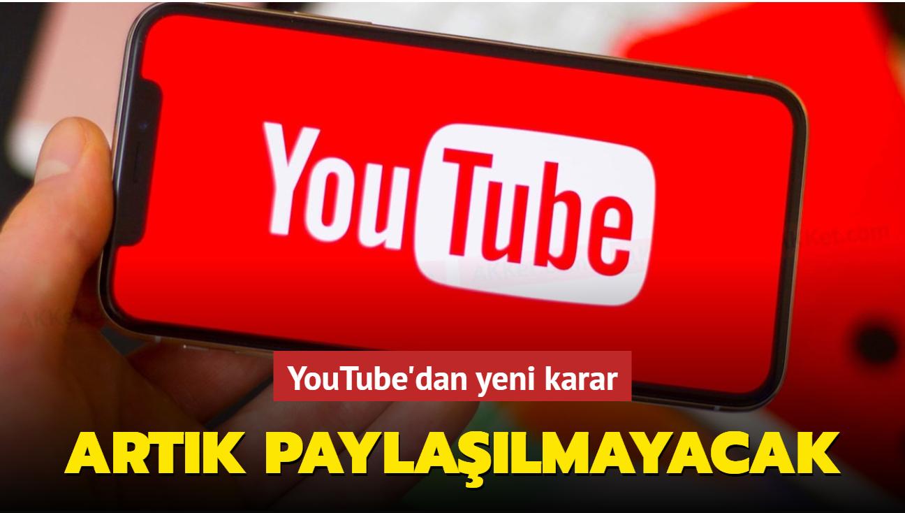 YouTube tüm videolara koyma kararı aldığı reklamların, gelirlerini paylaşmayacak