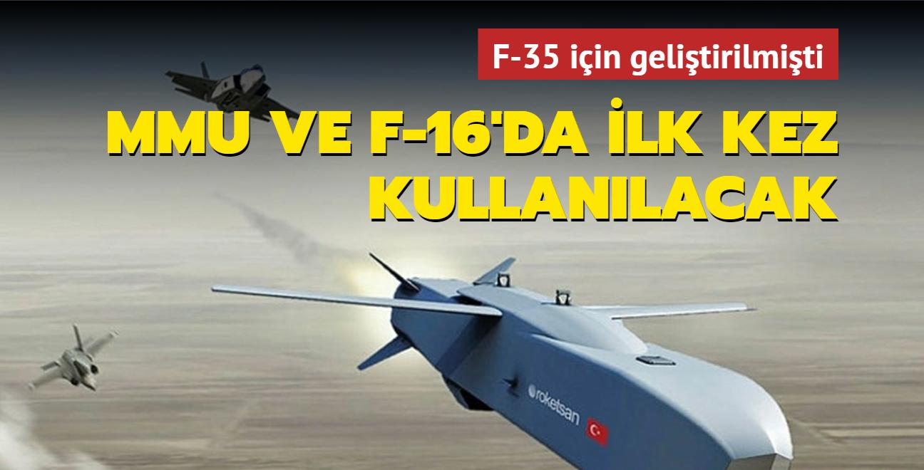 F-35 için geliştirilmişti: F-16 ve MMU da ilk kez kullanılacak