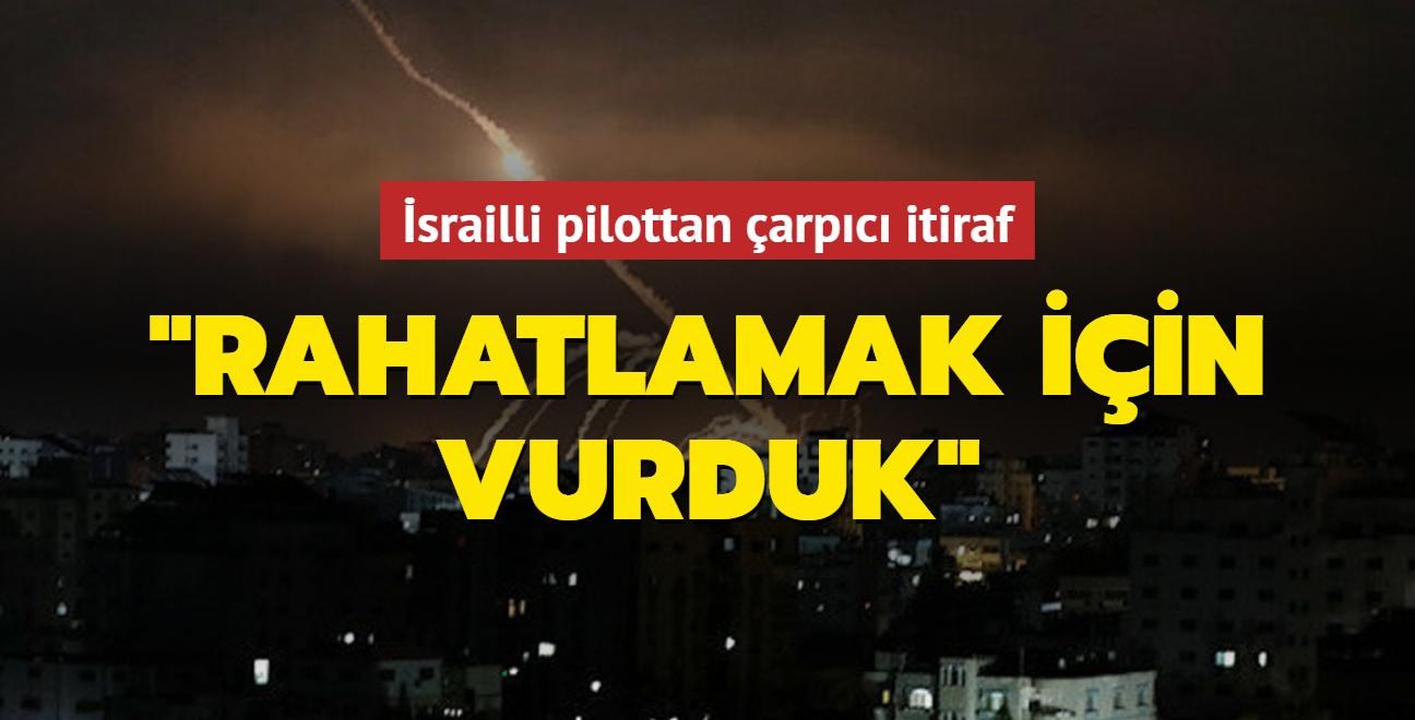İşgalci İsrail'in savaş uçağı pilotundan çarpıcı itiraf: Roket atışlarını engellemekte başarısız olduk
