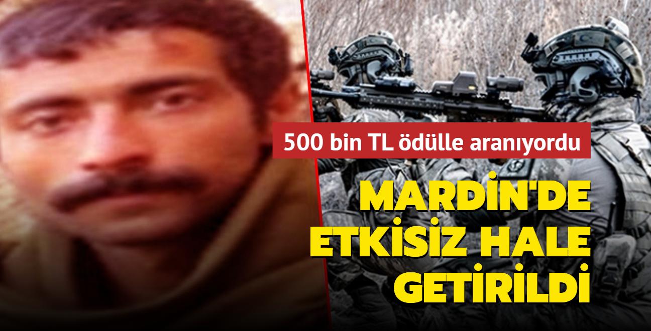 Son dakika haberi: 500 bin TL ödülle aranıyordu: Mardin'de etkisiz hale getirildi