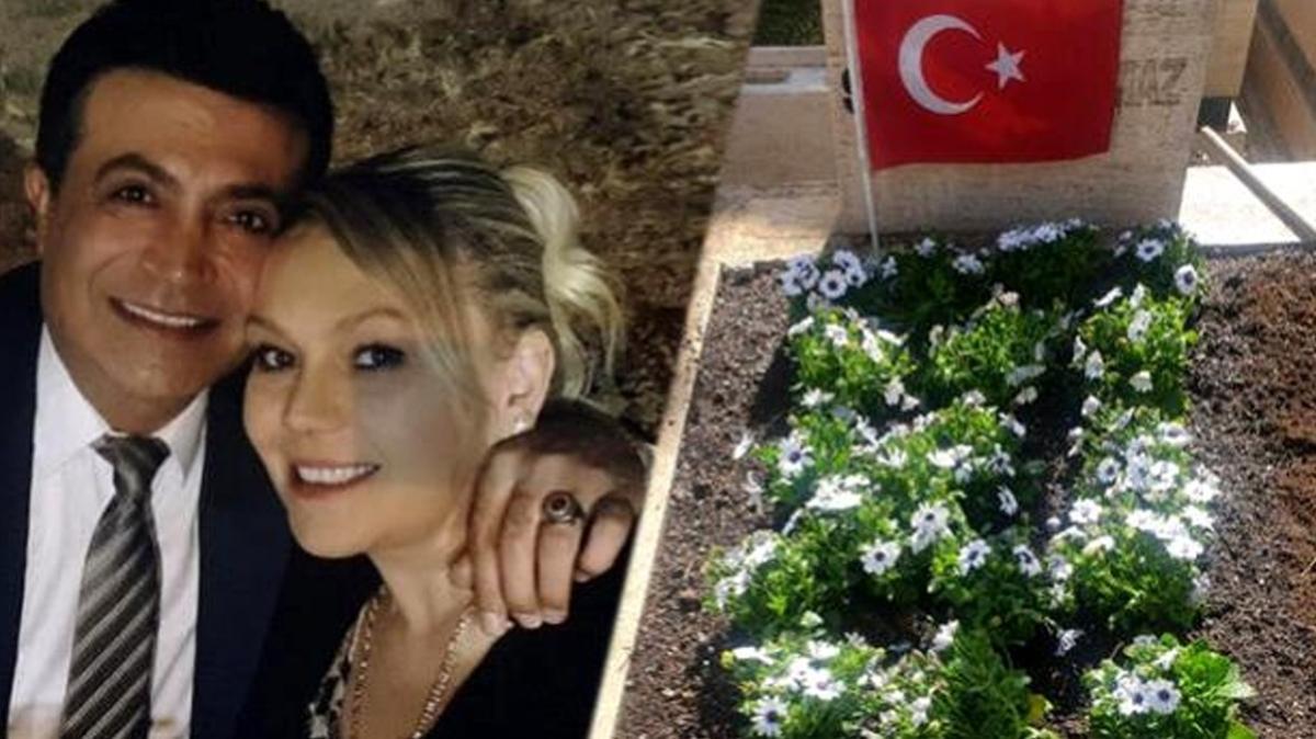 Aylin Yılmaz eşi Oğuz Yılmaz'ın mezarını ziyaret etti... Sözleri yürek burktu