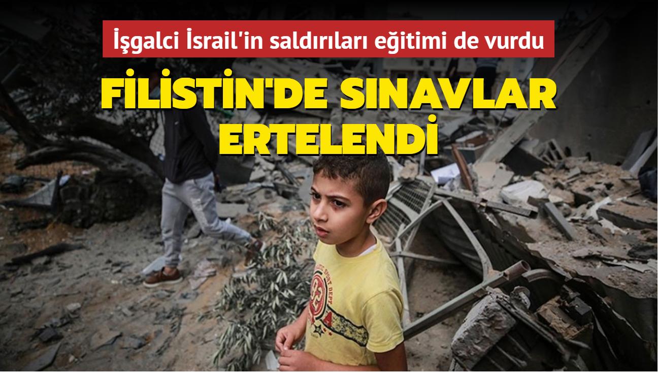 İşgalci İsrail'in saldırıları eğitimi de vurdu... Filistin'de sınavlar ertelendi
