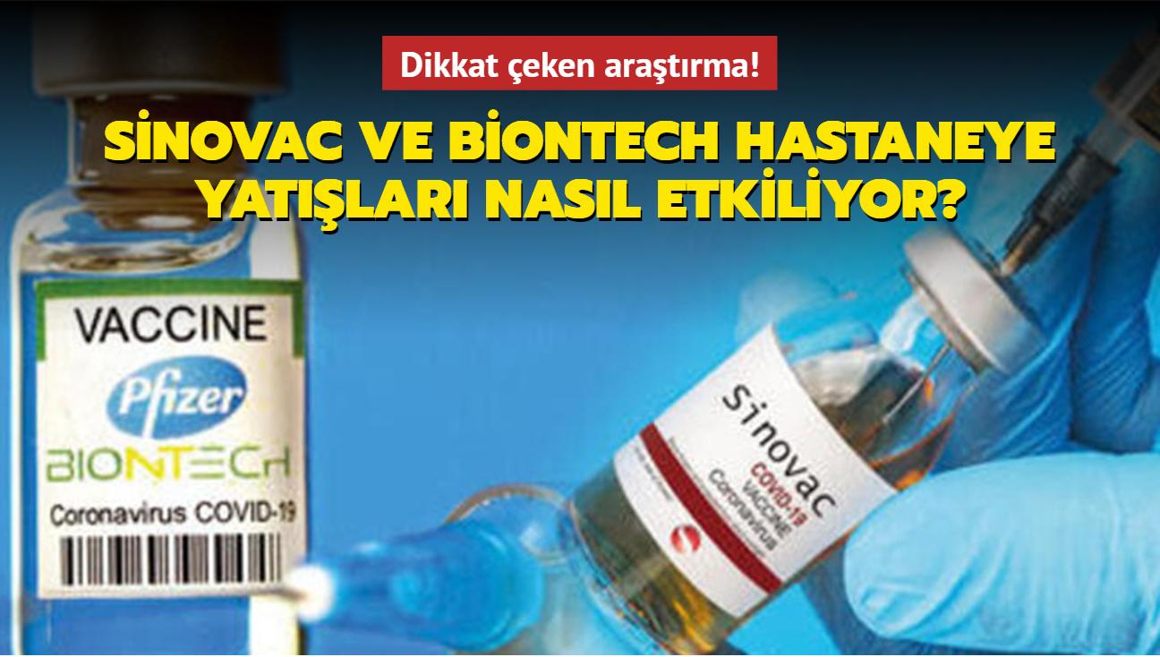 """Sinovac ve BioNTech hastaneye yatışları nasıl etkiliyor"""" Dikkat çeken araştırma!"""
