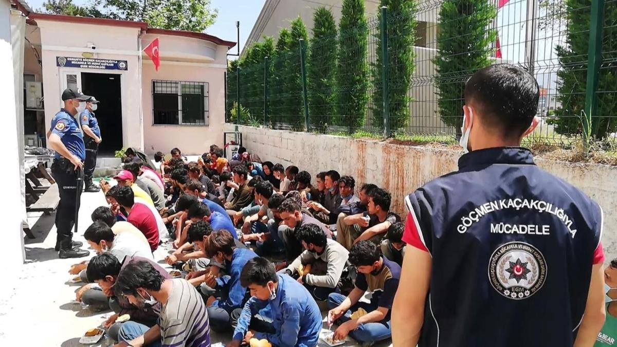 14 yolcu kapasiteli minibüste balık istifi taşınan 74 göçmen kurtarıldı