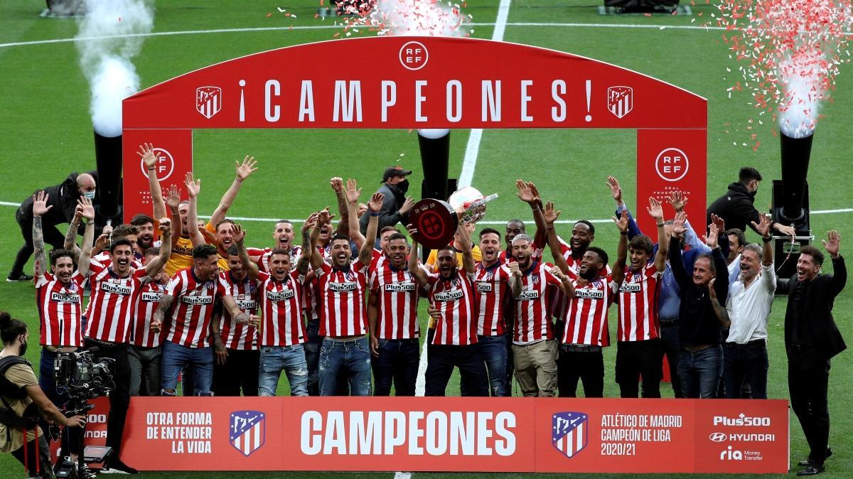 İspanya La Liga şampiyonu Atletico Madrid kupasına kavuştu
