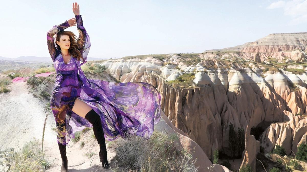 Kapadokya'nın tarihi dokusunda dijital defile: Peribacalarında moda şov
